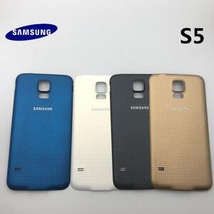 Image 5 - Oryginalna pełna obudowa tylna pokrywa przednia do szkła ekranu i soczewek + środkowa ramka do części Samsung Galaxy S5 G900 G900F I9600