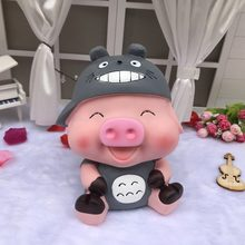 Criativo Bonito Dos Desenhos Animados Porco Mealheiro Grande Mcdullah Gato Mealheiro Presente do Dia das Crianças Caixa de Armazenamento de Decoração Para Casa caixa de moeda