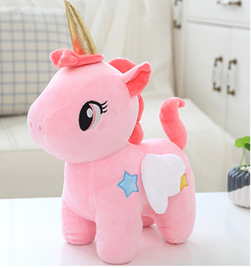 2019 Kawaii Plush Toy Soft Unicorn Doll Appease Sleeping Pillow Kids Room Decor Toy For Children Christmas Present