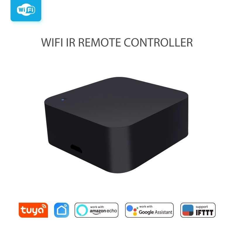 جهاز تحكم عن بعد من Tuya يعمل بالواي فاي بسرعة 2.4 جيجاهرتز يعمل بالأشعة تحت الحمراء جهاز تلفزيون ذكي يعمل بالريموت كنترول للتحكم الصوتي من أجل أليكس جوجل هوم Ifttt