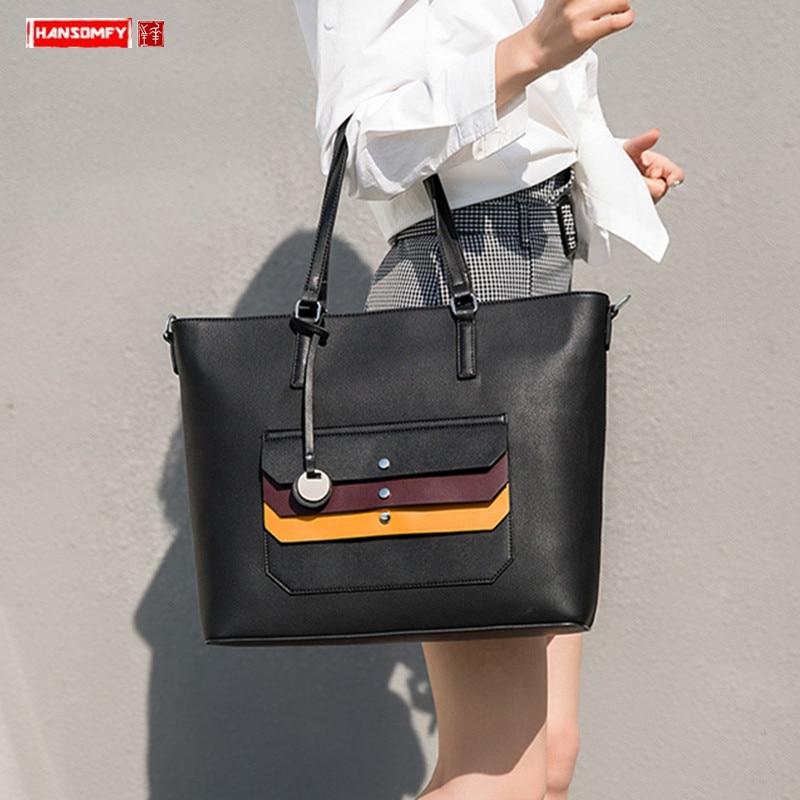 New Large Capacity Women Laptop Briefcase Female Handbag Shoulder Messenger Bag Women's Fashion Document File Tote Commuter Bags