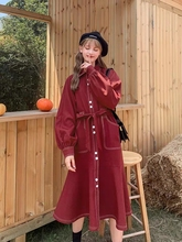 Summer new fashion trench coat style dress fall greatly big yards