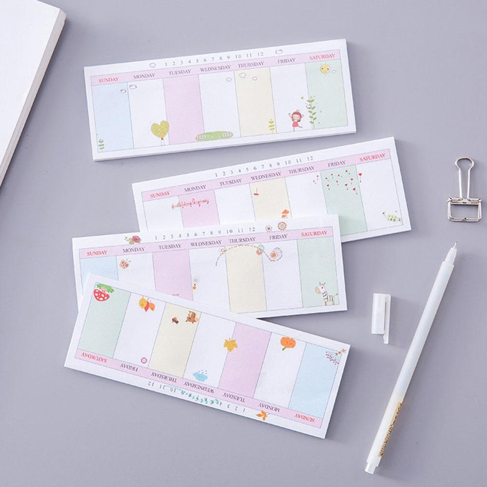 40 Sheets Cute Kawaii Weekly Planner Memo Pad Sticky Notes Stationery Sticker Posted It Stickers Notepads Office School Supplies