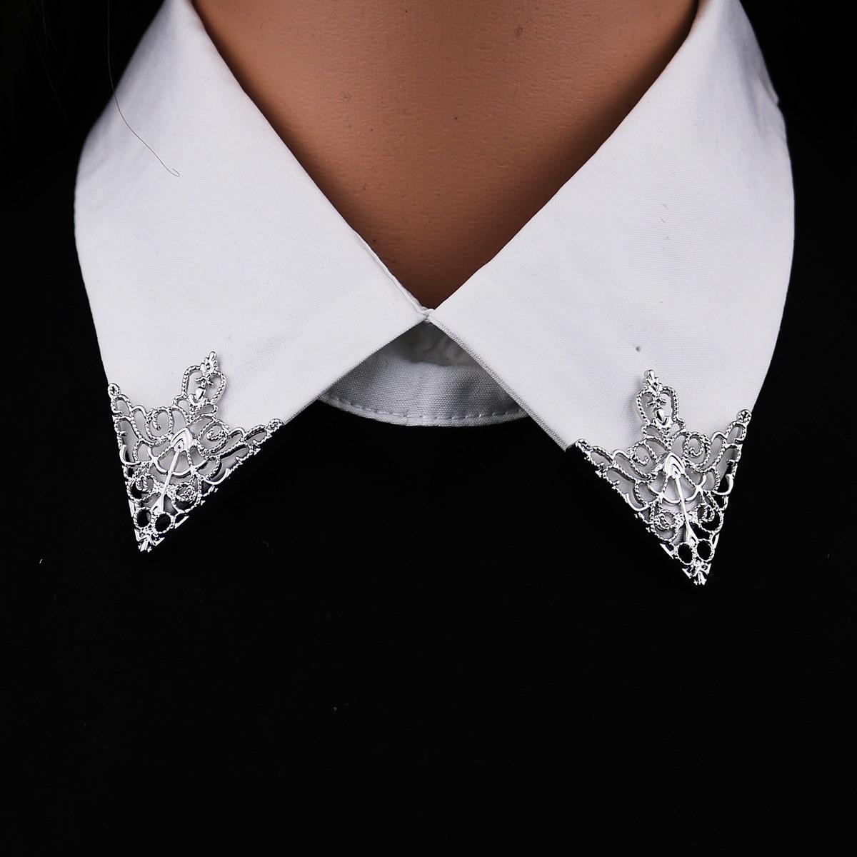 I Remiel, винтажная модная треугольная рубашка, воротник, булавка для мужчин и женщин, выдолбленная Корона, брошь, угловая эмблема, ювелирные аксессуары|Броши|   | АлиЭкспресс