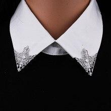 I-remiel, broche de cuello de camisa triangular de moda Vintage para hombres y mujeres, broche de corona ahuecado, emblema de esquina, accesorios de joyería