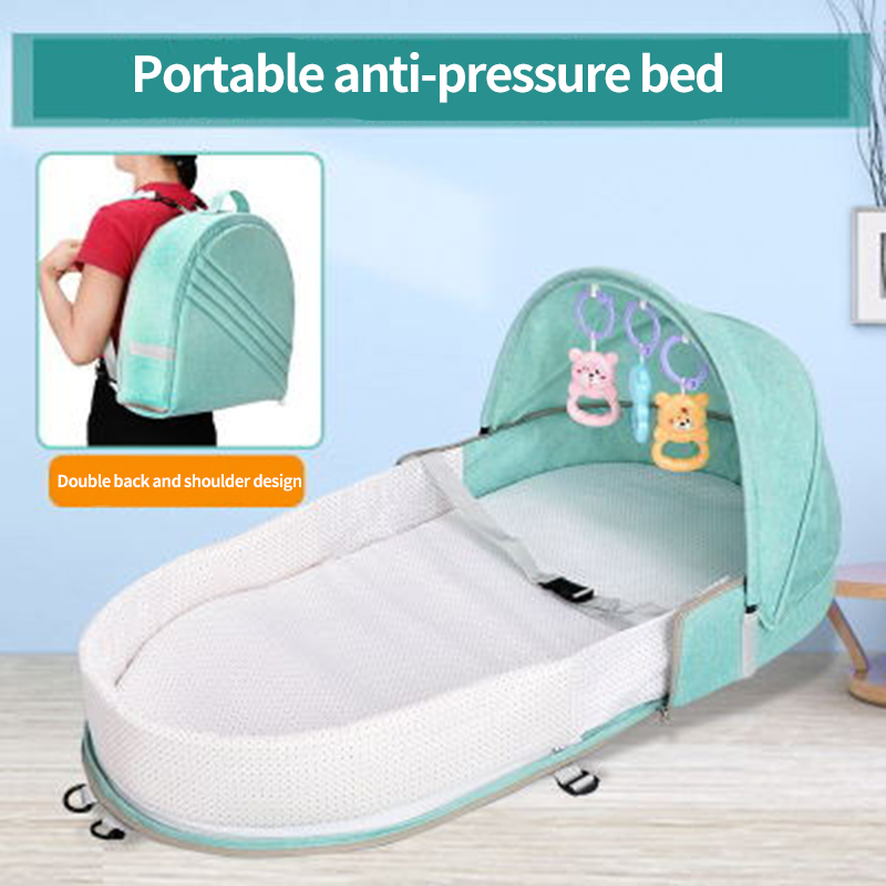 Free Mosquito Net Portable Baby Bed Bag With Mosquito Net Mummy Bag Travel Bed For Mosquito Baby Lounger Fabric High Capacity