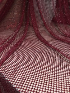 Image 3 - 5y JIANXI.C 326803 newest nigerian net lace fabric with rhinstones hot sale tulle lace for party dress