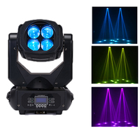 YaYaO RGBW 4x25w LED Moving Head DMX512 Beam Light for DJ Disco Party Strong Effect Lamps Outdoor Lighting