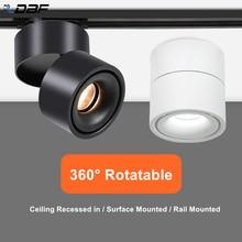 [Dbf] ângulo ajustável led superfície downlight 360 graus rotatable 7w 10 12 15 conduziu a lâmpada do ponto de teto AC85 265V iluminação interna