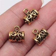 WYSIWYG 10 Uds 12x12mm Color oro antiguo fianza granos para fabricación de joyería DIY resultados de la joyería