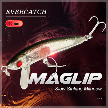 Evercatch Maglip 50mm/3.5g mini sinking minnow rattlin wobblers artificial buzz jerkbait for trout bass perch pike fishing lure фото