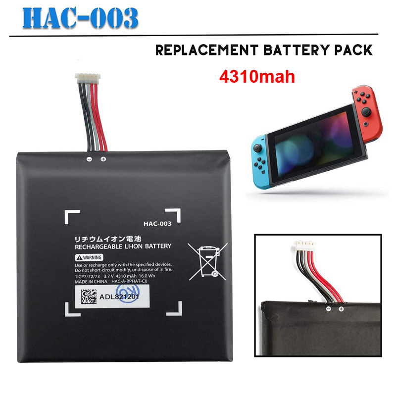 HAC-003 4310mAh Rechargeable Li-ion Battery Replacement Charger Battery For Nintend Nitendo Switch Console Controller Battery