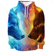 3d print sweatshirts acuarela animals cool streetwear warm sports