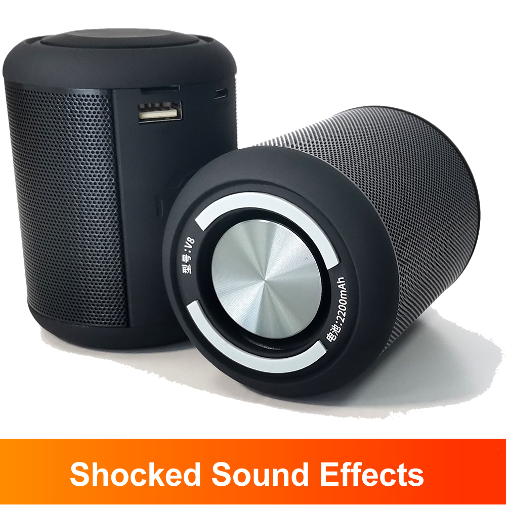 Портативный Bluetooth-динамик, мини-сабвуфер, стерео, ударопрочный HiFi-звук, для офиса, TWS, музыка, громкая связь, TF, Usb, уличный аудиоплеер