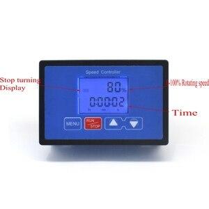 Image 5 - LCD Smart Digital Display 0~100% Tachometer adjustable 30A PWM DC Motor Speed Controller Timing Remote control 12V 24V 36V 48V
