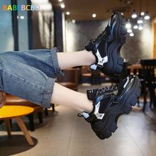 European Station Autumn 2019 New women Leisure Sports Shoe Net Red Muffin Cake Thick sole Single Shoe Women high heels(China)