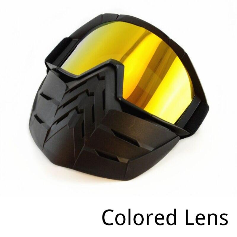 Casque moto équitation lunettes lunettes avec masque amovible ATV Dirt Bike hors route course lunettes lunettes pliable