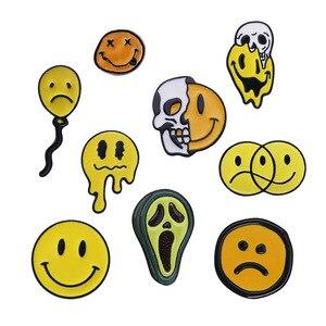 Skull Badges Enamel Pin Brooches For Women Anime Smiley Pins Metal Brooch Enamel Badges On Clothes Horror Deadpool Avatar Badges