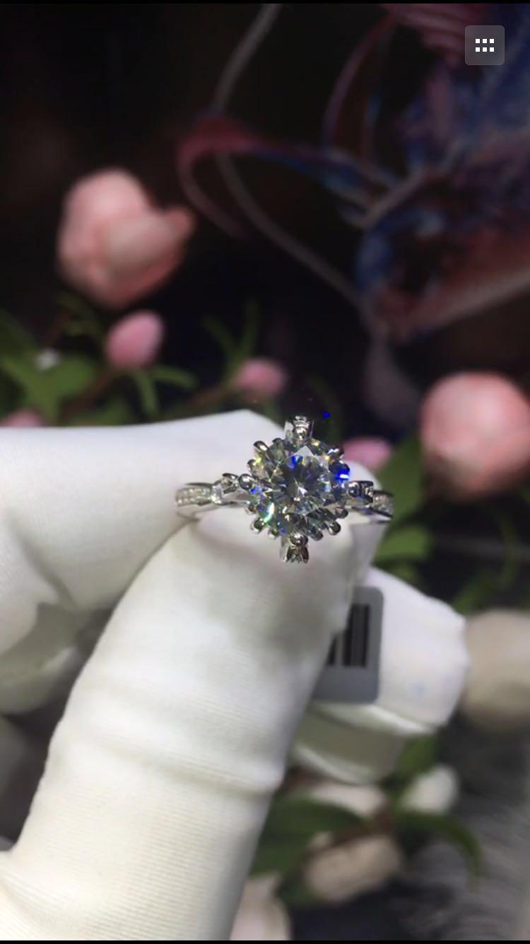CAR011 2carat8MM NSCD anneaux de gemme synthétique, anneau de chrysanthème