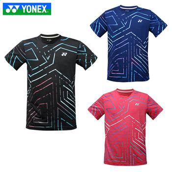 Nowy YONEX ubrania do badmintona dla mężczyzn kobiety odzież koszulka z krótkim rękawem koszula koszulki sportowe tanie i dobre opinie
