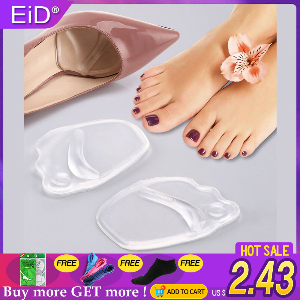 Useful Silicone Gel Sole High Heel Foot Cushions Forefoot Anti-Slip Insole Breathable ShoesWomen Protection Foot Pad Soft Insert