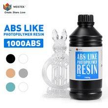 WEISTEK 405nm 500g/1000g ABS Comme Résine UV Sensible Photopolymère Pour Anycubic Photon Mono X Creality LD-002H LCD 3D Imprimante