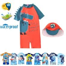 Children's Swimsuit Boys 2021 Dinosaur UV Baby Bathing Suit Boy Kid One Piece Swimming Suit Toddler Boy Swimsuits  Baby Swimwear