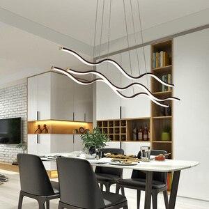 Image 1 - מינימליסטי מודרני LED תליון אורות חדר אוכל סלון תליית Hanglampen השעיה תליון מנורת מתקן משלוח דואר