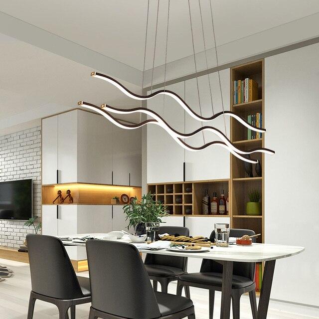 Minimalistische Moderne Led Hanglampen Voor Eetkamer Woonkamer Opknoping Hanglampen Suspension Pendant Lamp Armatuur Gratis Mail