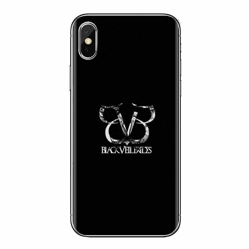 עבור iPhone XS Max XR X 4 4S 5 5S 5C SE 6 6S 7 8 בתוספת Samsung Galaxy j1 J3 J5 J7 A3 A5 סיליקון מעטפת כיסוי BVB שחור צעיף כלות