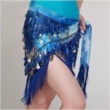 Женский костюм для танца живота набедренный платок с треугольными