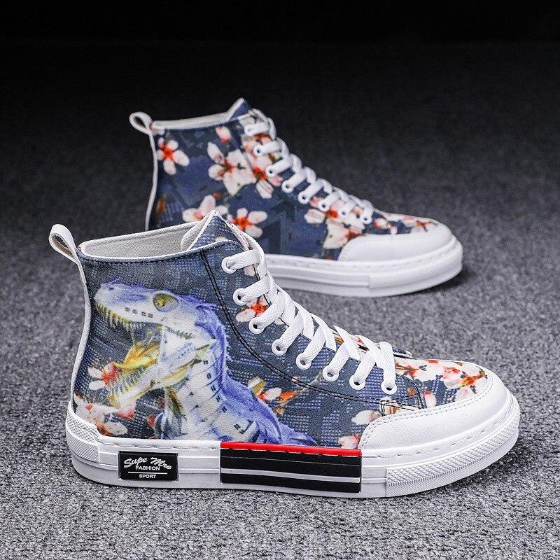 Qb801 парусиновые туфли с высоким верхом, летняя обувь для скейтборда, Студенческая Повседневная обувь