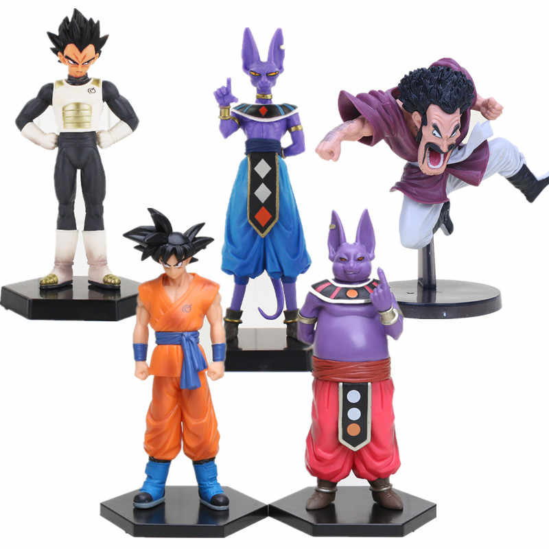 Dragon Ball z Super Saiyan Vegeta Champa Beerus Son Goku Hercule Bardana Son Gohan Figuras Collectible Toy Modelo