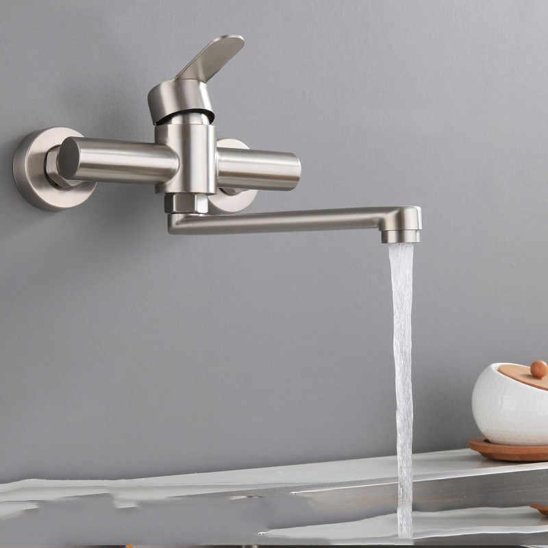 Yooap 2019 Wand Montiert Bad Becken Wasserhahn, 360 grad Belüfter Klapp Wasser Bubbler Waschen Heißer Kalt Mischbatterie für Küche Bad