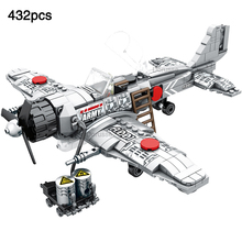 compatible legoingly Military World War aircraft A6M Zero Fighter Army ww2 Mini Figures Model Building Block Toys For Boys Gift