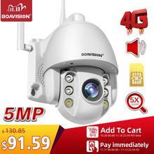 2MP karty SIM 3G 4G bezprzewodowy Mini PTZ kamera kopułkowa 1080P 5MP na świeżym powietrzu 5X Zoom / 4mm obiektyw stałoogniskowy dwukierunkowy Audio CCTV kamera ochrony