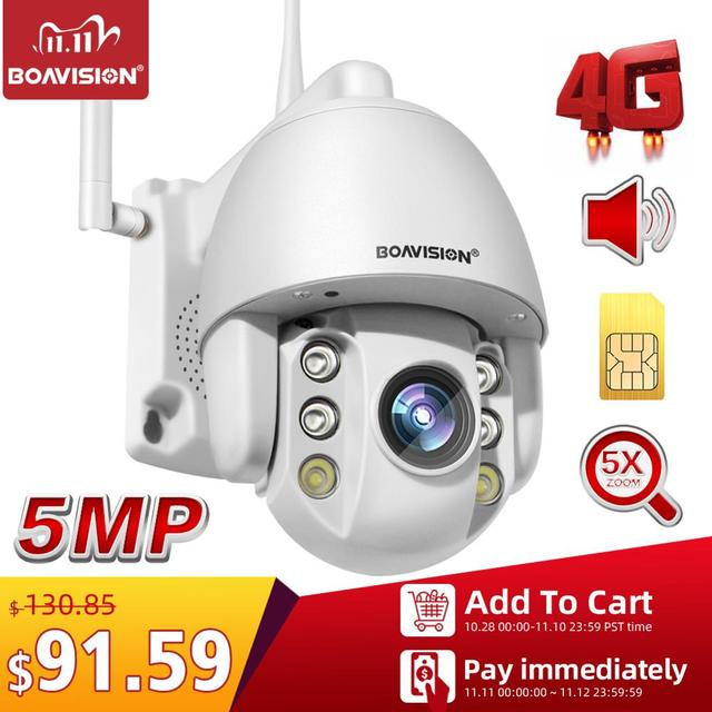 2mp sim cartão 3g 4g sem fio mini câmera dome ptz 1080p 5mp ao ar livre 5x zoom/4mm lente fixa áudio em dois sentidos cctv câmera de segurança