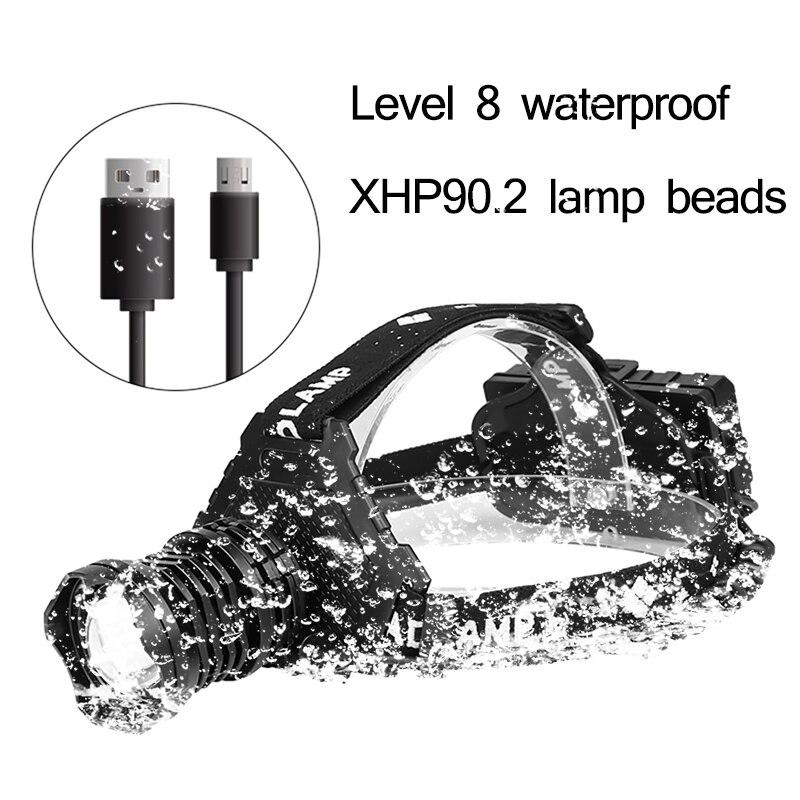 New 90000lm LED High Power Head Lamp
