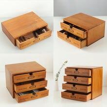 Креативный китайский Ретро деревянный Настольный ящик для хранения