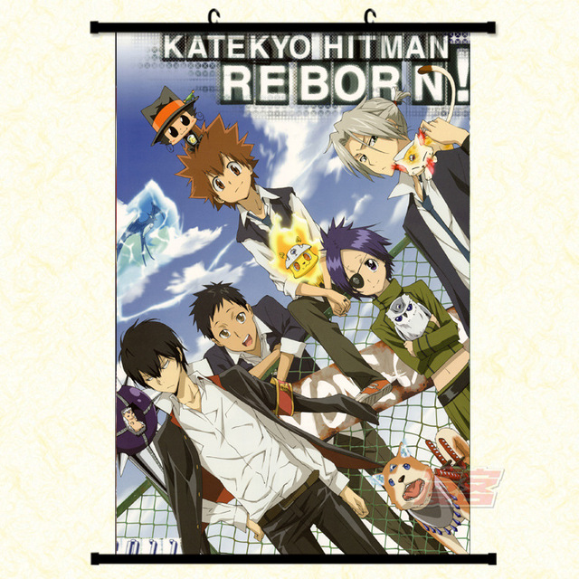Japanese Anime Hitman Reborn Wall Scroll Mural Poster Wall