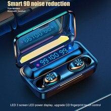 F9-10 Bluetooth 5.0 Wireless Earphone Hifi IPX7 Sport Waterproof Earbuds Noise C
