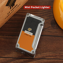 COHIBA Cigar Lighter Pocket Accessories Cigarette Lighters with Cigars Cutter Punch Gift Box