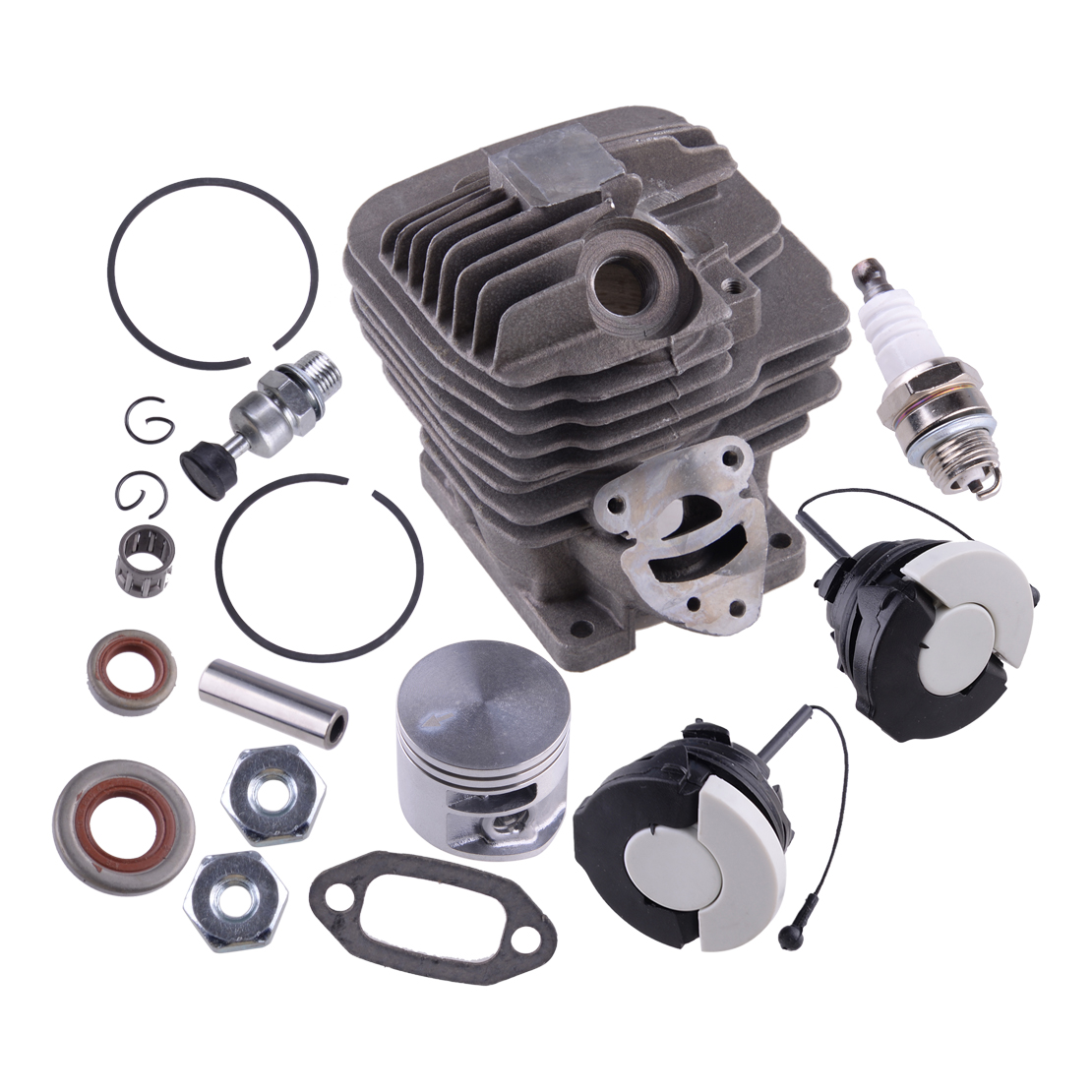 44 7mm Cylinder Piston Carb Kit fit for Stihl MS261 MS261C Chainsaw Oil Seal Cap 11410201200