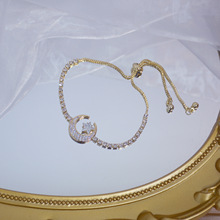 Star Bracelet Zircon Elegant Female Moon Bling And Girlfriend Temperament Micro-Inlaid