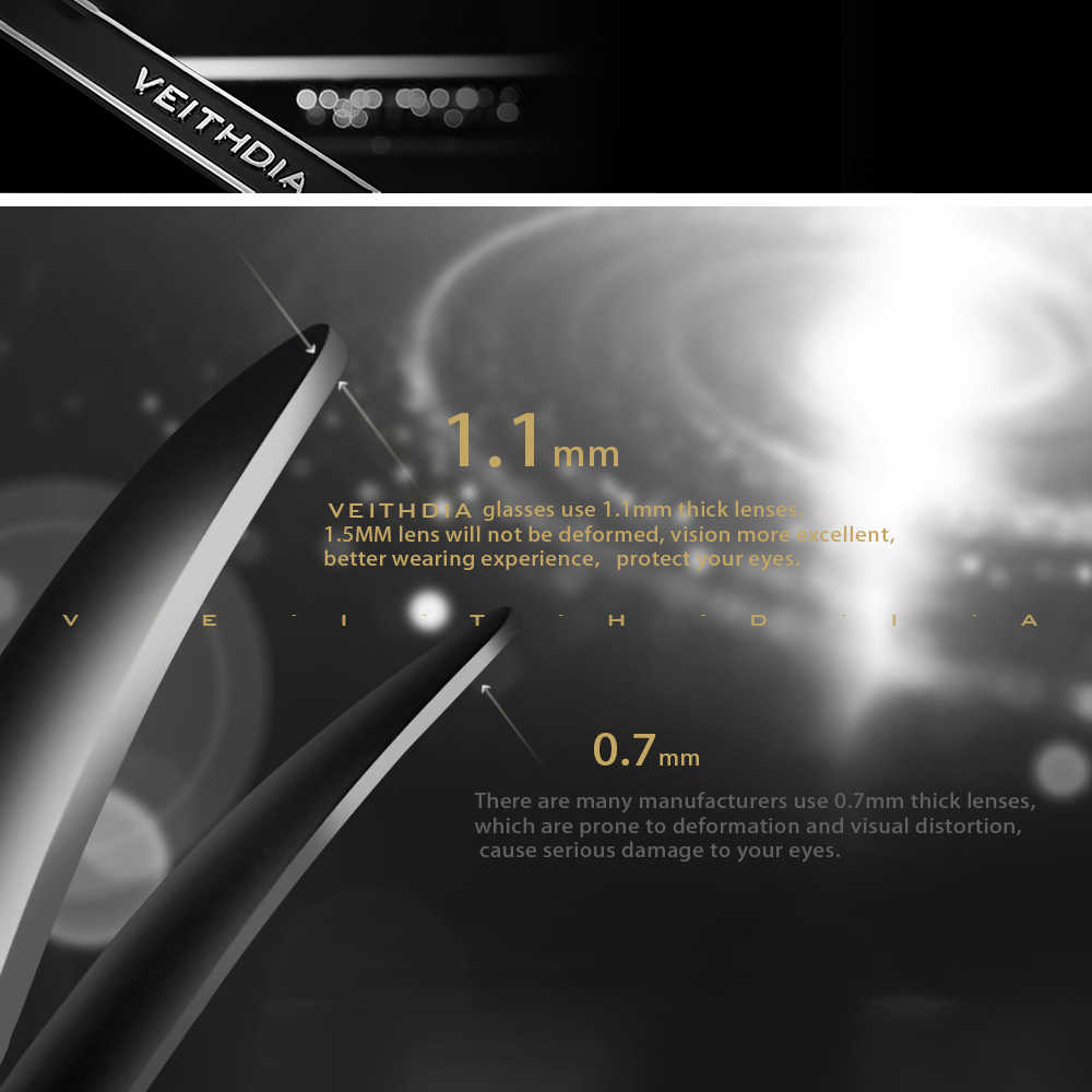 VEITHDIA ยี่ห้อ Unisex Retro TR90 แว่นตากันแดด Photochromic กระจก Polarized แว่นตา VINTAGE แว่นตา Sun สำหรับชาย/หญิง 7018