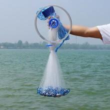 Finefish Cast Net Fishing Network Fly USA Hand Cast Net Outdoor Throw Catch Fishing Net accessory Tool Gill net