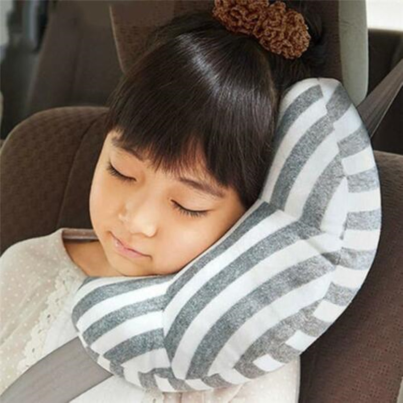 Car Seat Travel Pillow Seatbelt Headrest Neck Rest Support Sleeping Cushion Shoulder Safety Belt Strap Protection Pads for Kids image