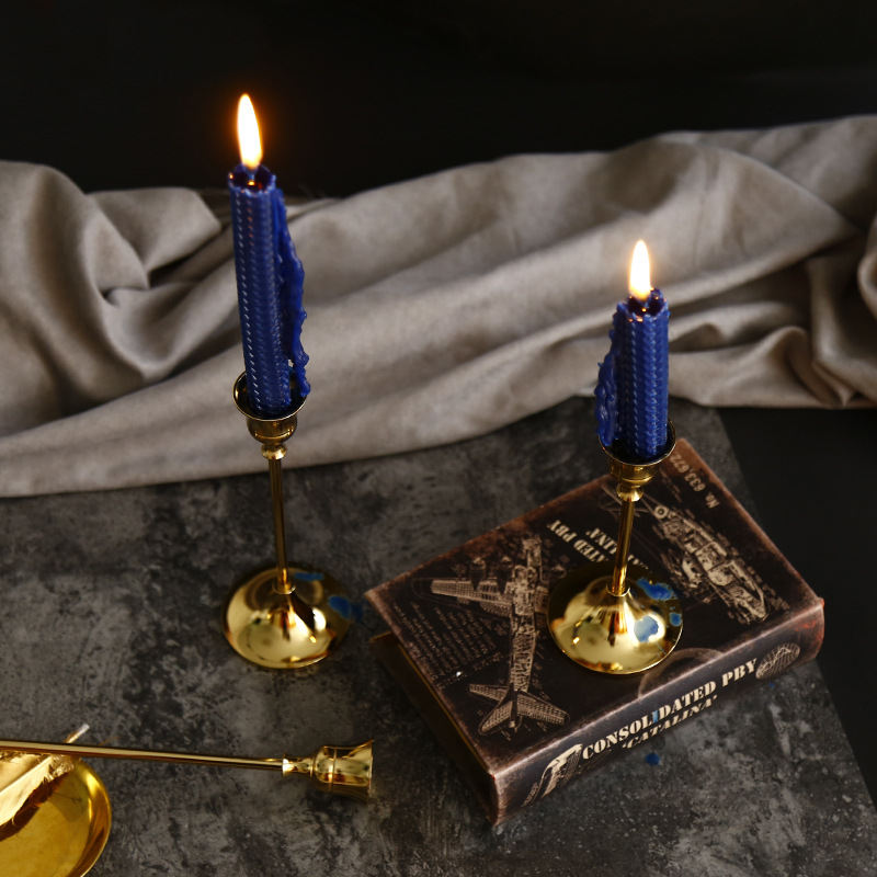 Nordic style light luxury metal candle holder decoration romantic retro coffee western restaurant scented candle decoration