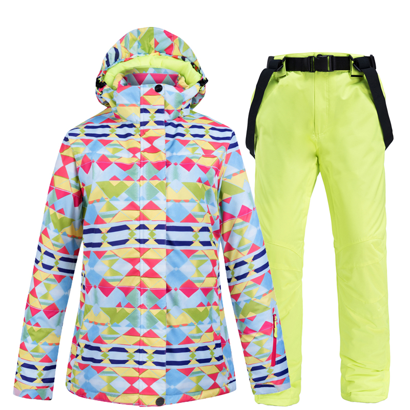 Ski Suit Women Brands Winter 2020 High Quality Ski Jacket And Pants Snow Warm Waterproof Windproof Skiing And Snowboarding Suits