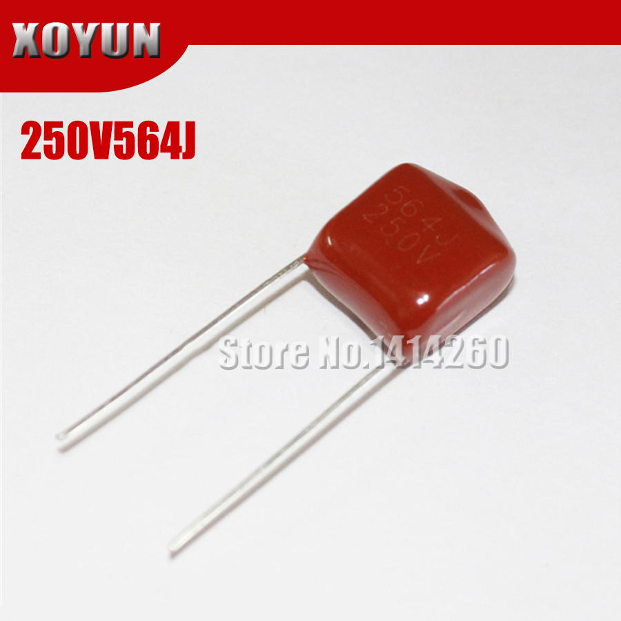 10pcs/lot CBB 250V564J 560NF 0.56UF Pitch 10MM 564J 250V CBB Polypropylene Film Capacitor